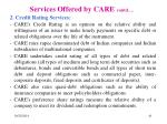 services offered by care contd2