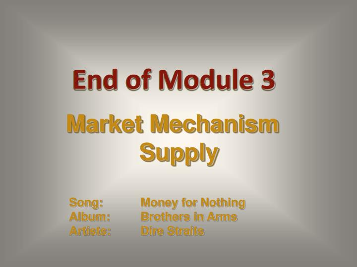 Market Mechanism Supply