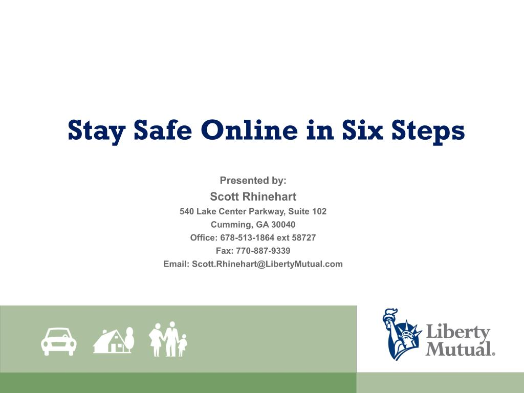 ppt stay safe online in six steps powerpoint presentation id 5662455