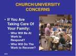 church university concerns