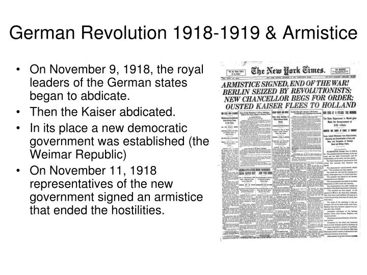 German Revolution 1918-1919 & Armistice