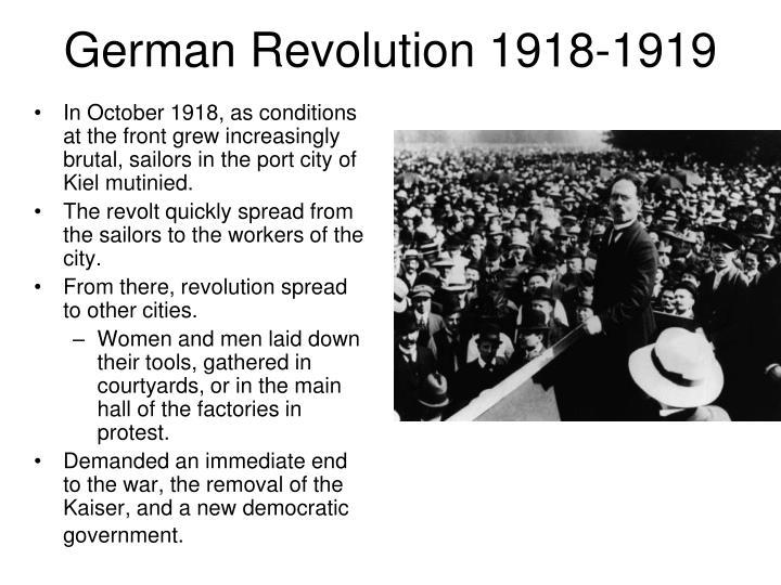 German Revolution 1918-1919