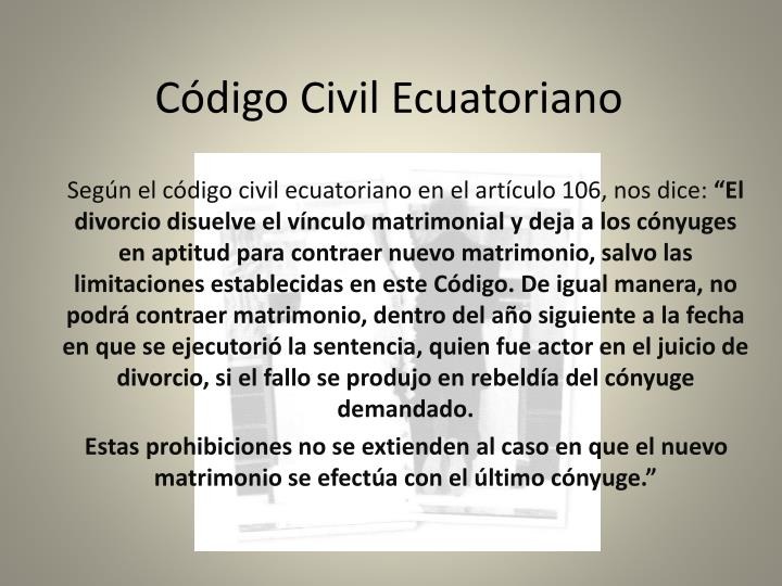C digo civil ecuatoriano