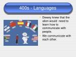 400s languages