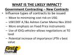 what is the likely impact government contracting new contracts1