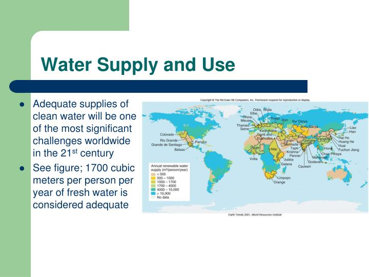 Water Supply and Use