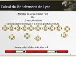 calcul du rendement de lyse
