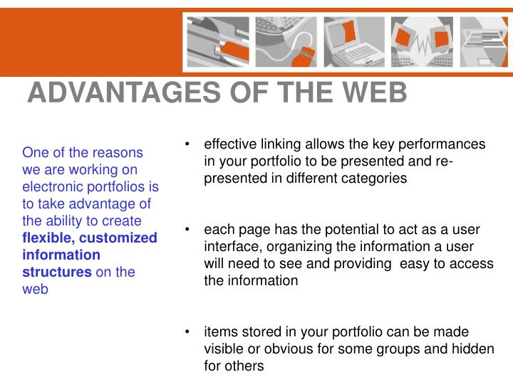 ADVANTAGES OF THE WEB