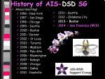 history of ais dsd sg7