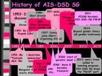 history of ais dsd sg8