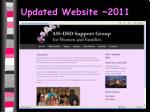 updated website 2011