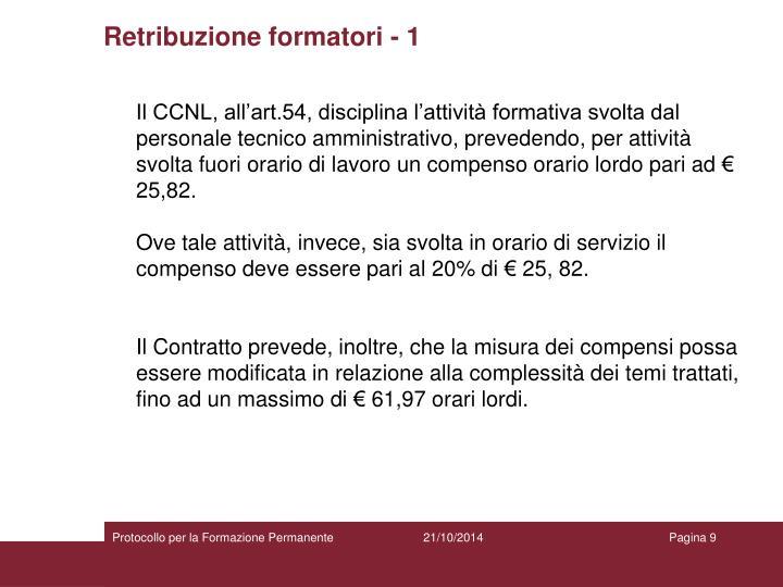 Retribuzione formatori - 1