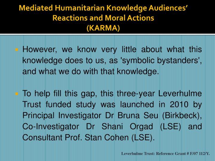 Mediated Humanitarian Knowledge Audiences'