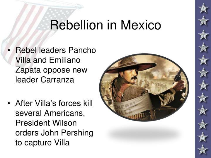 Rebellion in Mexico