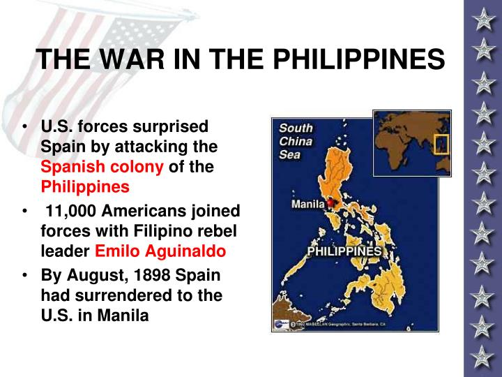 THE WAR IN THE PHILIPPINES