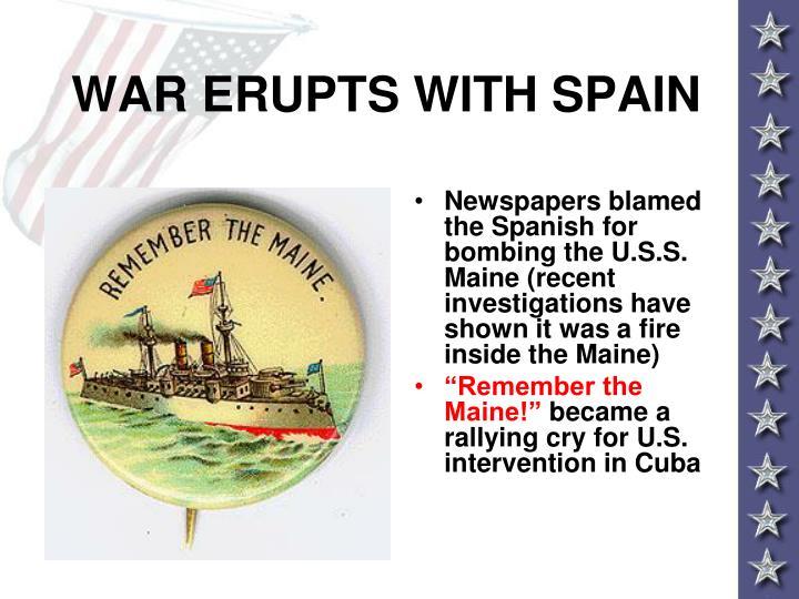 WAR ERUPTS WITH SPAIN