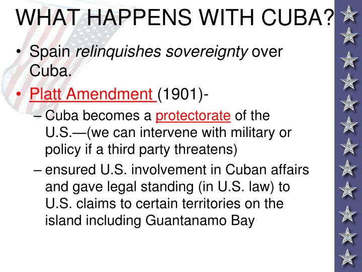 WHAT HAPPENS WITH CUBA?