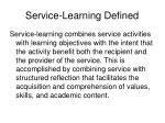 service learning defined