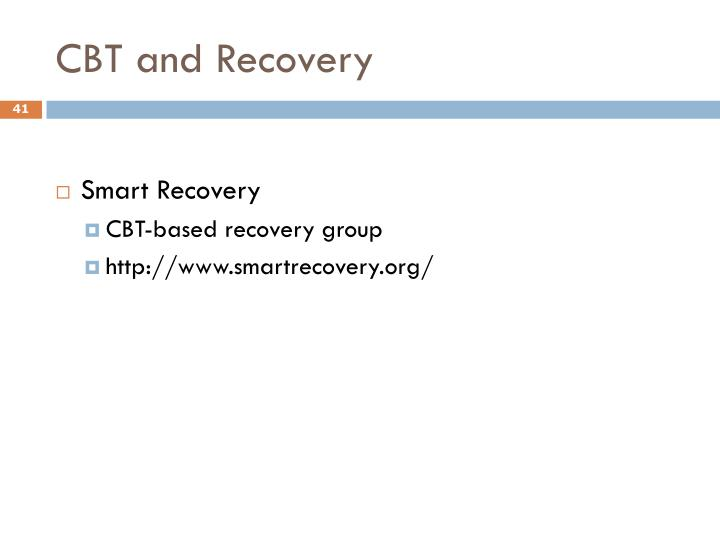 CBT and Recovery