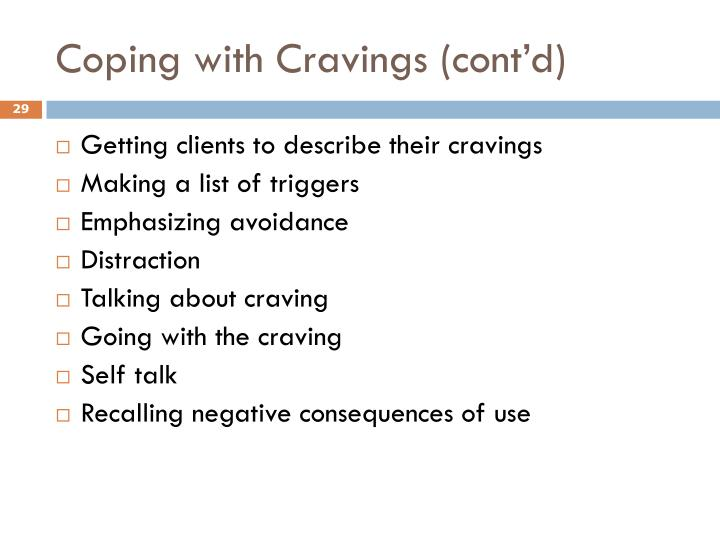 Coping with Cravings (cont'd)