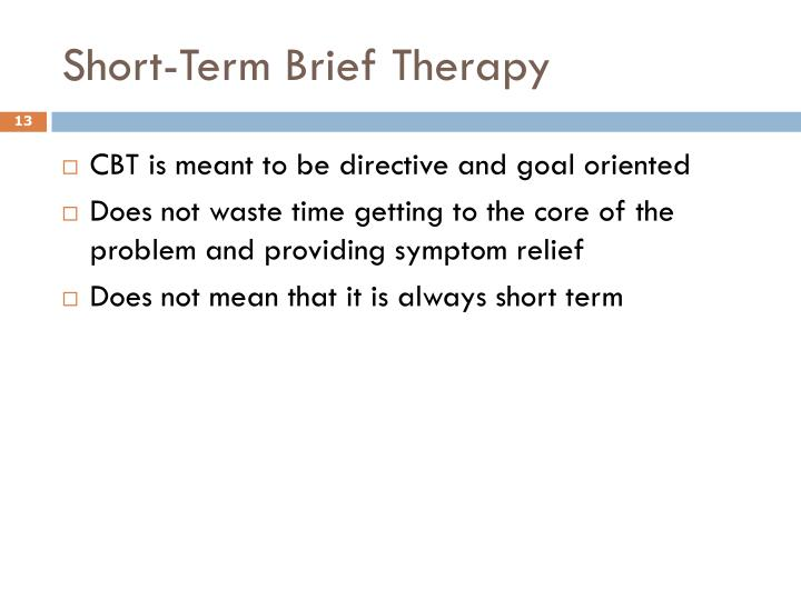 Short-Term Brief Therapy