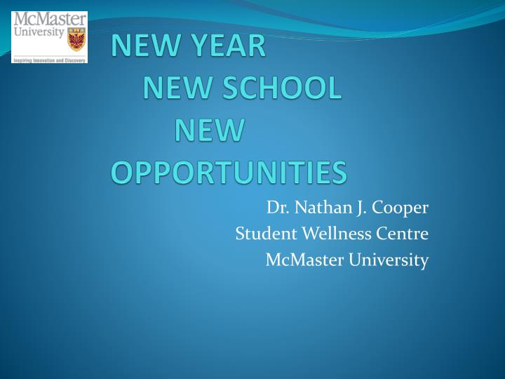 new year new school new opportunities