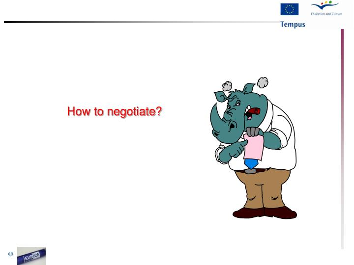 How to negotiate?