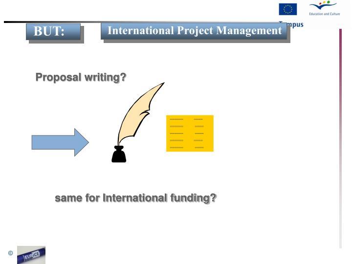 Proposal writing?