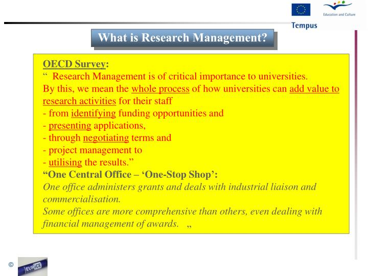 What is Research Management?