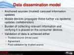 data dissemination model