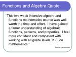 functions and algebra quote1