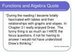 functions and algebra quote2