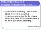 rational numbers and proportional reasoning quote1
