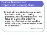 rational numbers and proportional reasoning quote2