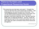 rational numbers and proportional reasoning quote3