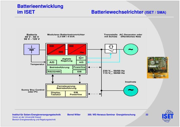 Batterieentwicklung