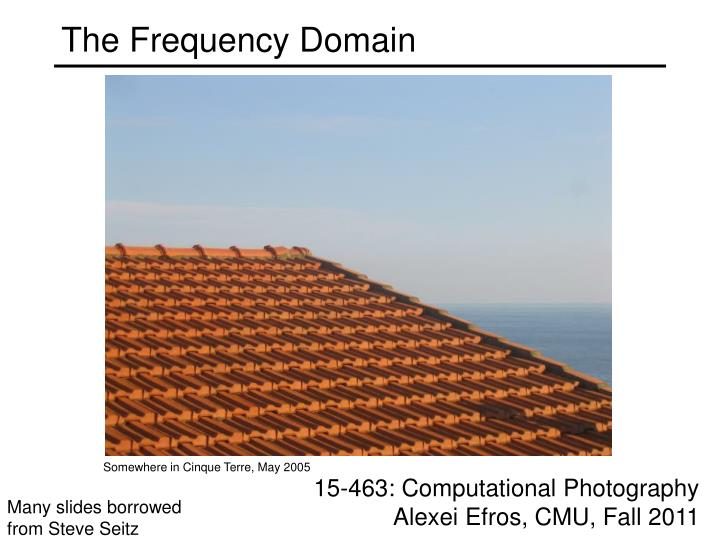 The frequency domain