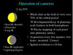 operation of cameras