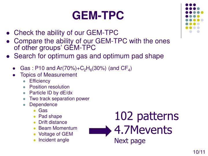 GEM-TPC
