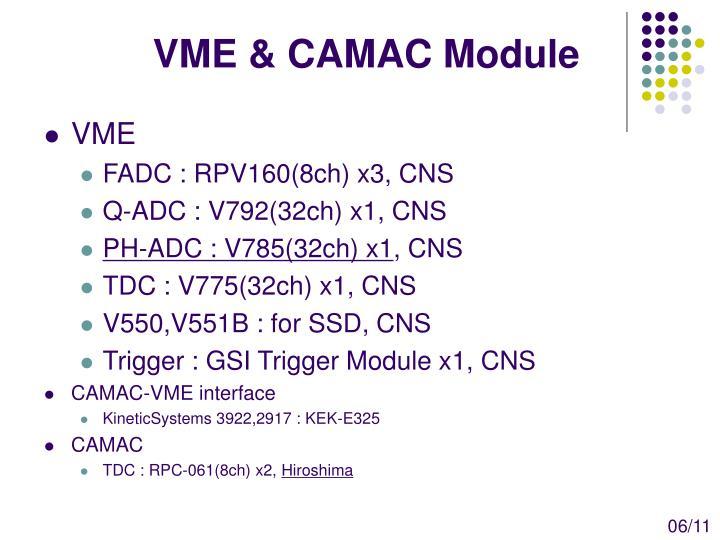VME & CAMAC Module