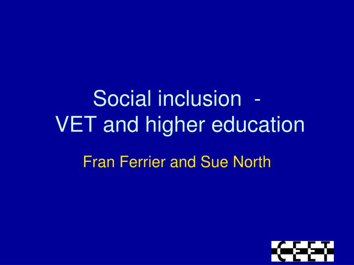social inclusion vet and higher education