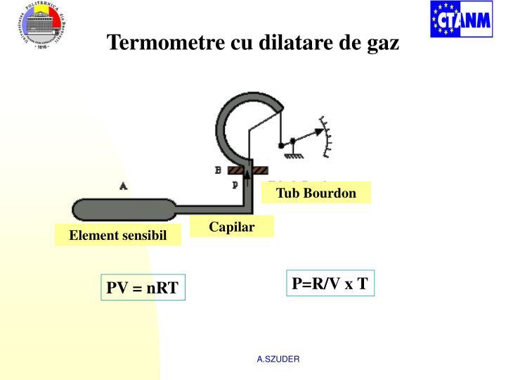Termometre cu dilatare de gaz