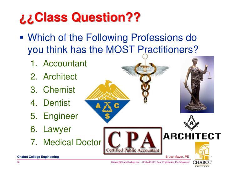 ¿¿Class Question??