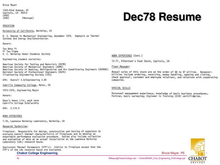 Dec78 Resume