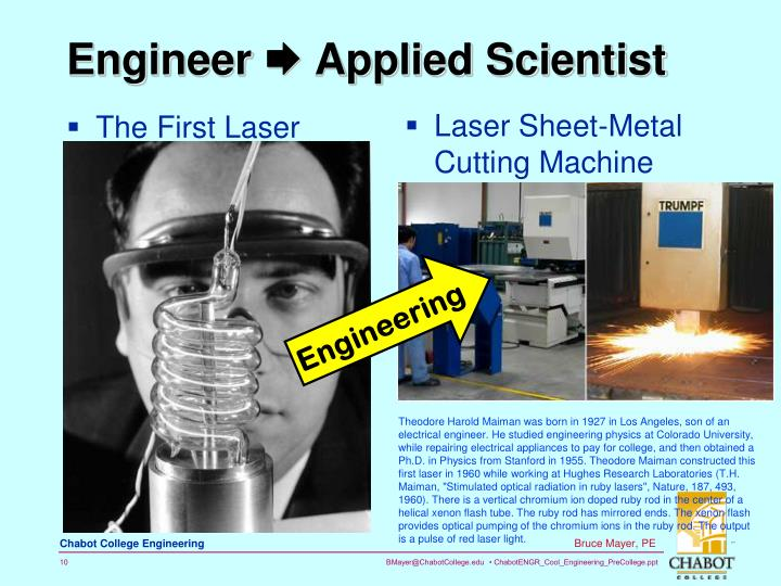 The First Laser