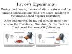 pavlov s experiments1