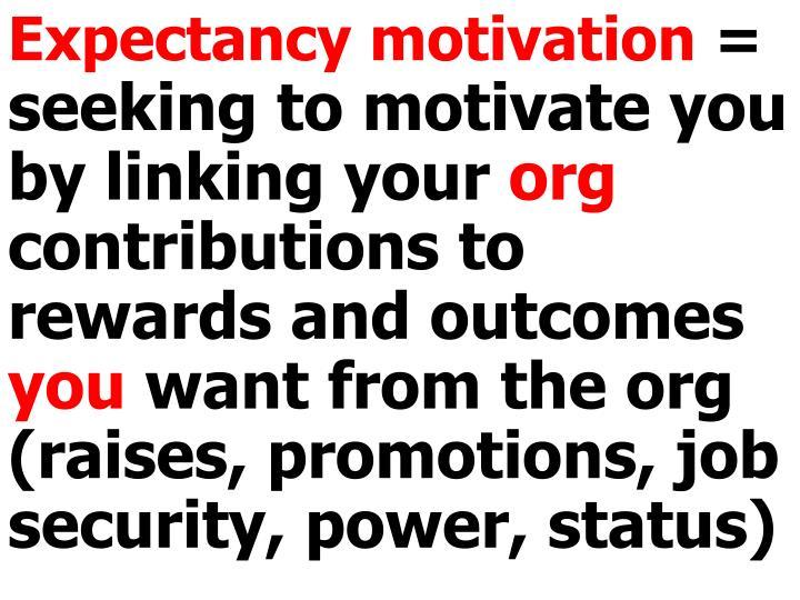 Expectancy motivation