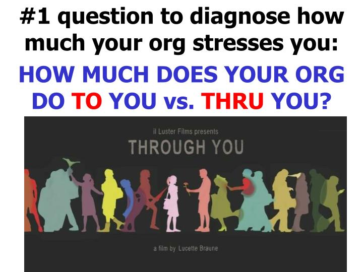 #1 question to diagnose how much your org stresses you: