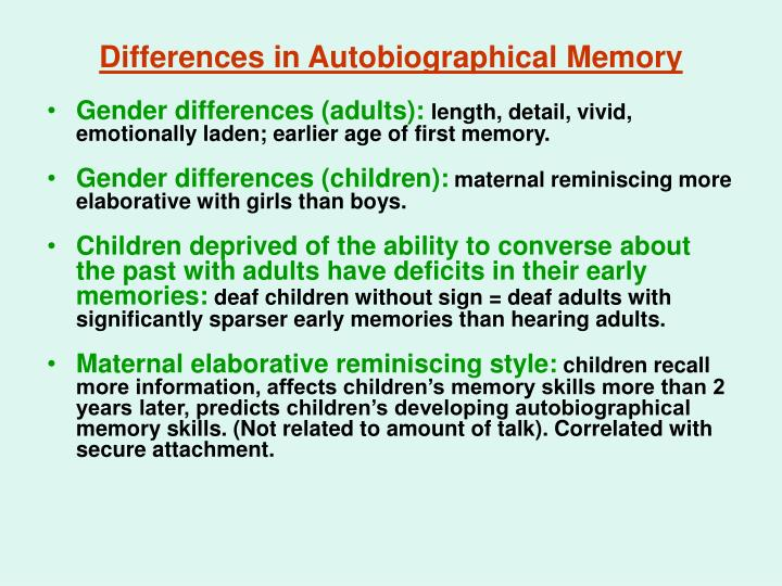 memory gender differences Here we address how this development is influencing studies of the neurobiology of learning and memory while it has been claims of gender differences.