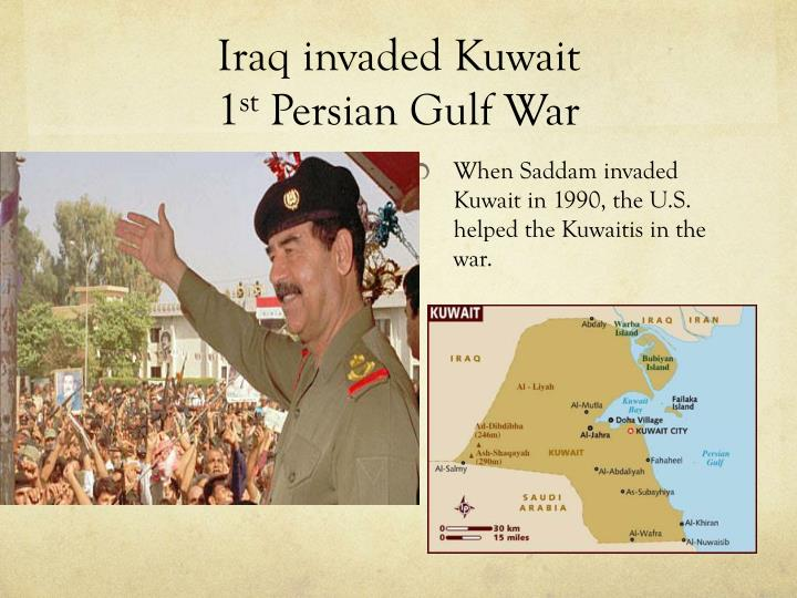 the persian gulf and iraq wars essay What caused the 1991 gulf war politics essay since it meant the access to the persian gulf during the eight years of war, iraq was supported through.